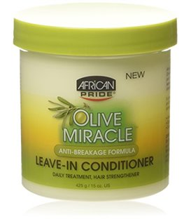 African Pride Olive Miracle Anti-Breakage Leave-In Conditioner 425 g/15 oz