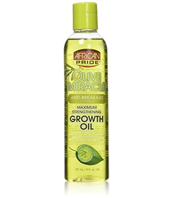 African Pride Olive Miracle Anti-Breakage Maximum Strengthening Growth Oil 237 ml/8 floz