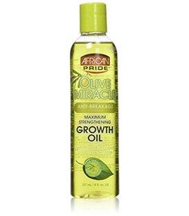 African Pride Olive Miracle Anti-Breakage Maximum Strengthening Growth Oil 237 ml/8 floz