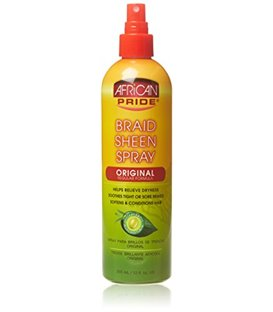 African Pride Olive Miracle Braid Sheen Spray Original Formula 355 ml/12 floz