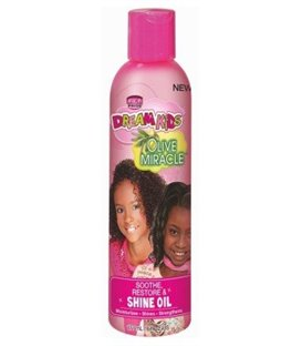 African Pride Dream Kids Olive Miracle Soothe and Restore Shine Oil 177 ml/6 floz