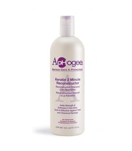Aphogee Intensive Two Minute Keratin Reconstructor Restores Softness & Elasticity & Repairs Damaged Hair 16 oz/473 ml
