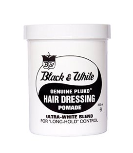Black and White Pluko Hair Dressing Pomade 200 ml