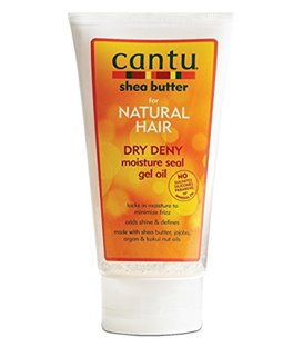 Cantu Natural Hair Dry Deny Moisture Seal Gel Oil 5 oz Tube