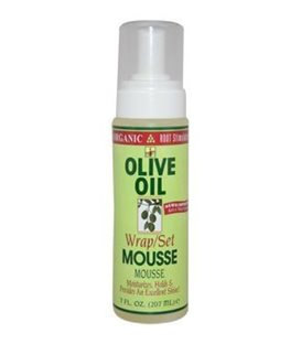 Organic Root Stimulator Olive Oil Wrap/Set Mousse 207 ml