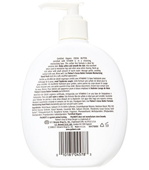 Palmers Cocoa Butter Hand Wash 250 ml Pump (No Sulfates)